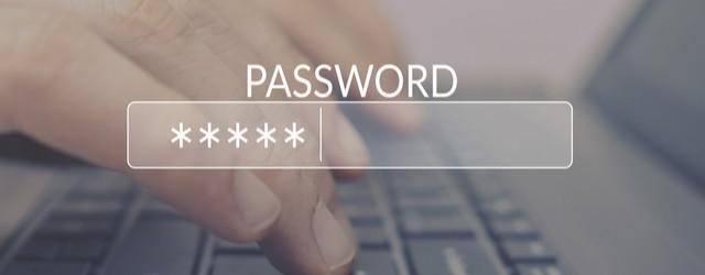 Image of password login screen