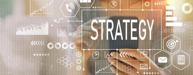 abstract technical images representing an IT strategy