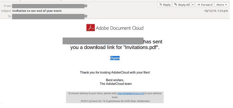 Adobe Email Scam