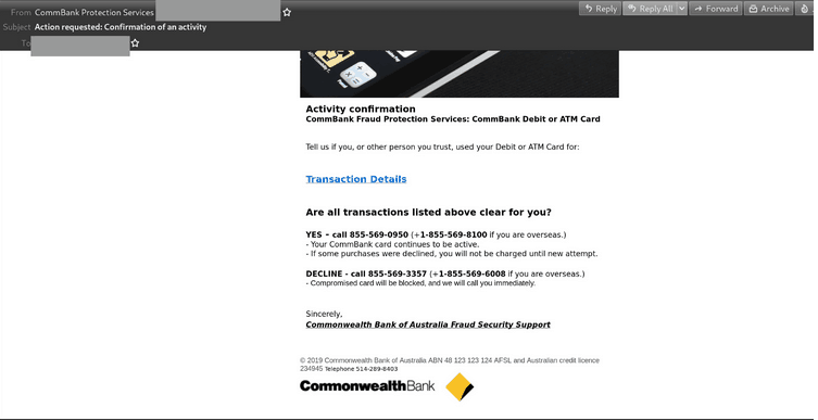 CommBank Email Scam