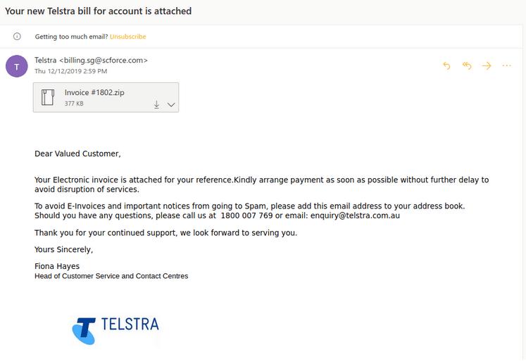 Telstra Scam