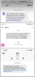 COVID-19 SMS Scam