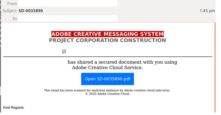 Adobe scam