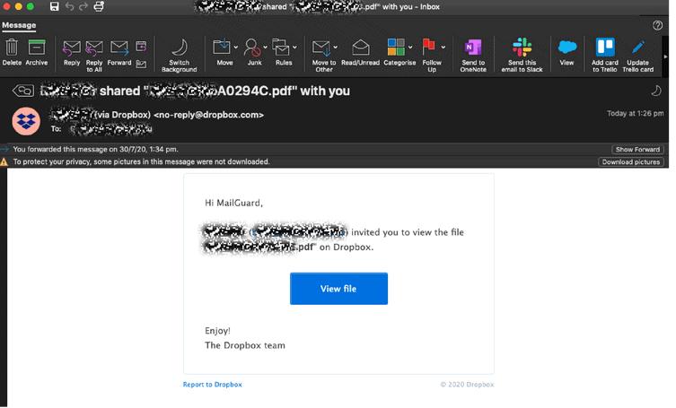 DropBox Scam