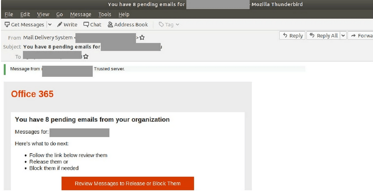 Office 365 Scam