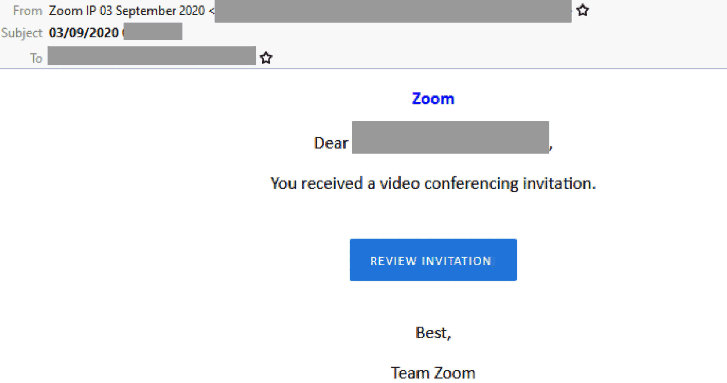 Zoom scam