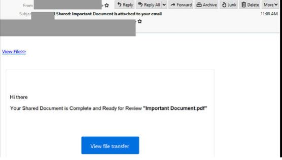Dropbox scam email