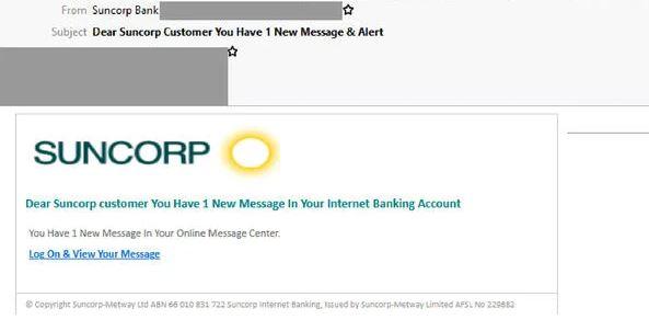 Suncorp scam
