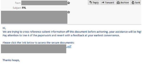 Secure docs scam
