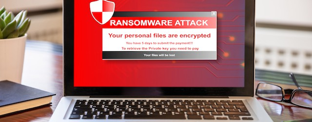 laptop locked by ransomware attack