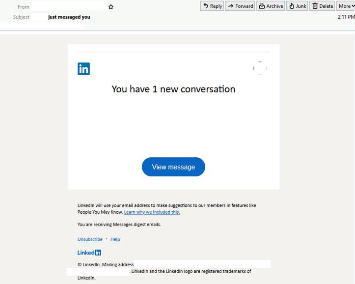 Linkedin Scam