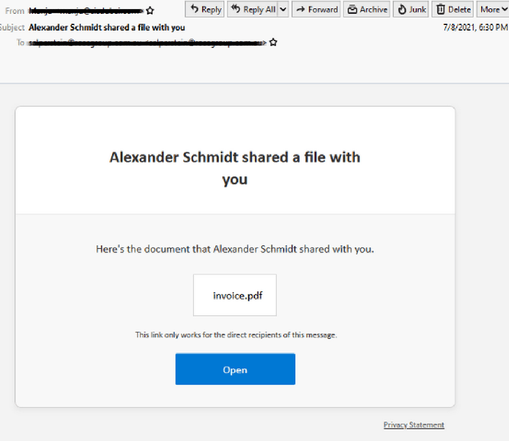 OneDrive Scam